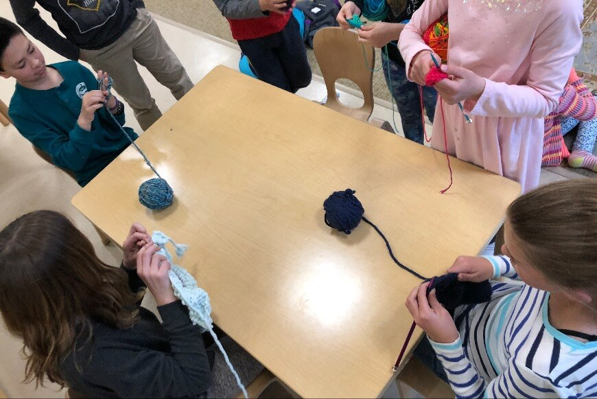Montessori After School Enrichment Programs Rhode Island - Knitting