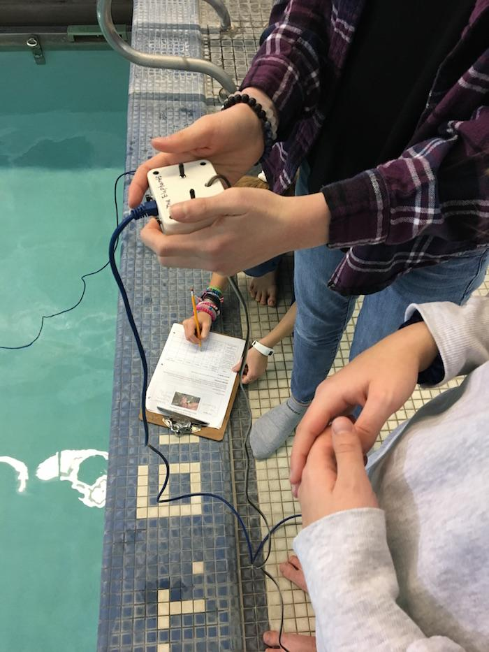 Middle School Completes ROV Testing at URI 1