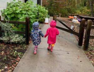 4 - Girls holding hands Private-School-RI-Montessori
