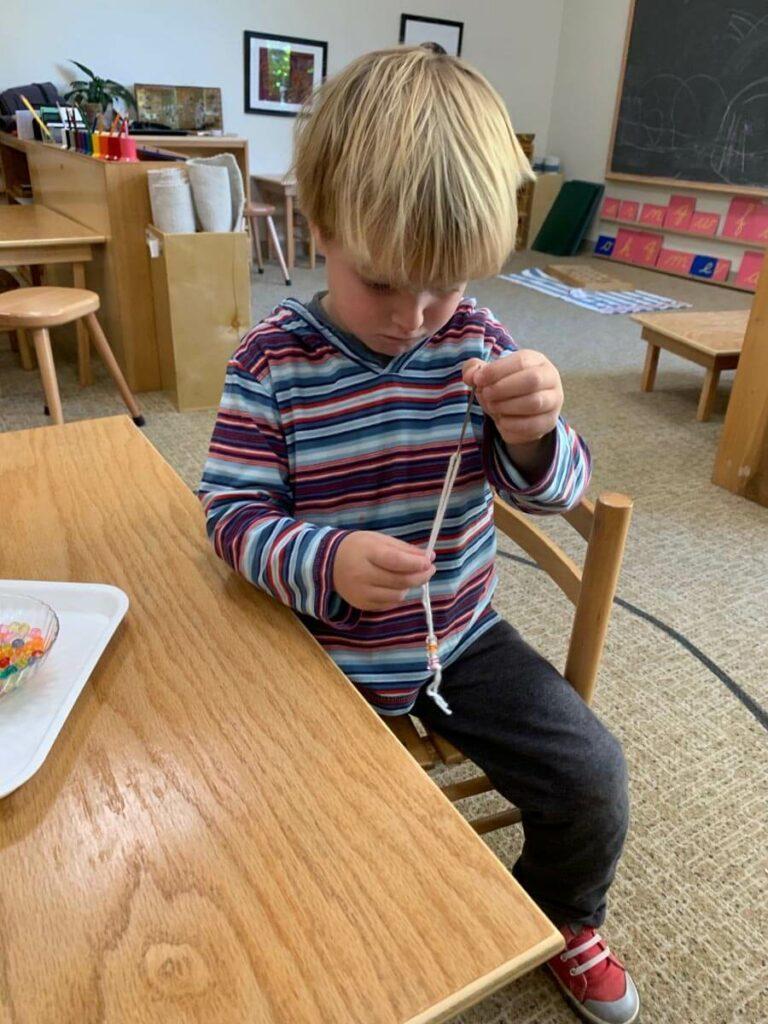 Beading Private-School-RI-Montessori