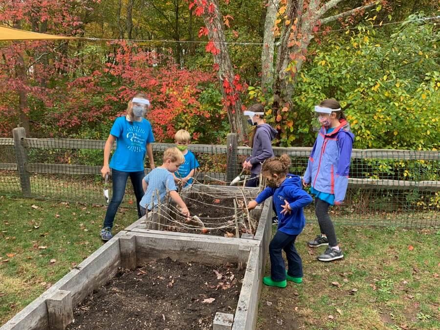Garden beds Private-School-RI-Montessori