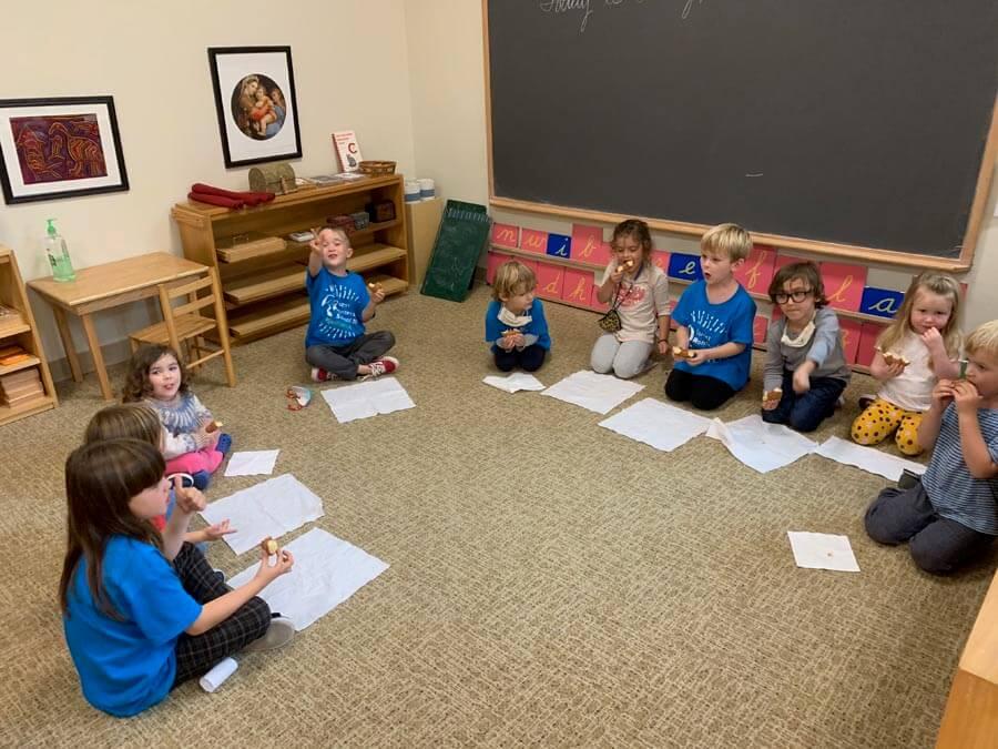 Group snack Private-School-RI-Montessori