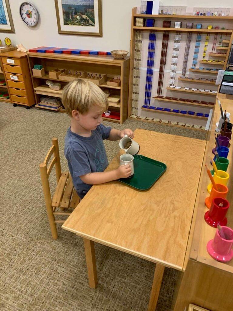 Pouring Private-School-RI-Montessori