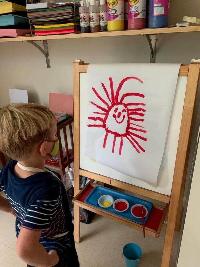 Proud artist Private-School-RI-Montessori