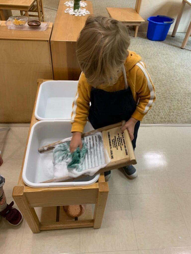 Scrubbing Private-School-RI-Montessori