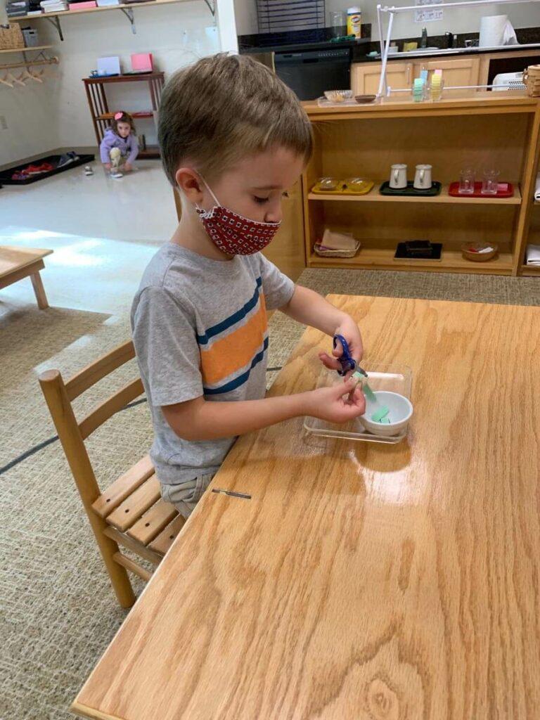 cutting Private-School-RI-Montessori