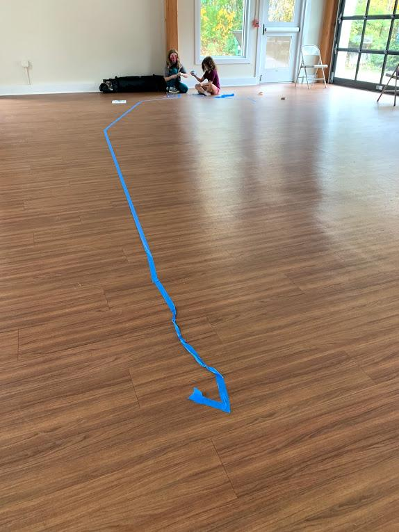 Creating the outline with the painter's tape